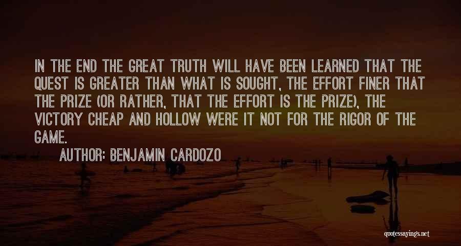 Rigor Quotes By Benjamin Cardozo