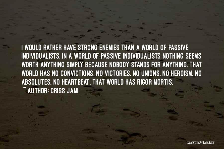 Rigor Quotes By Criss Jami