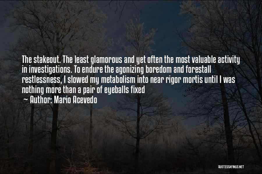 Rigor Quotes By Mario Acevedo