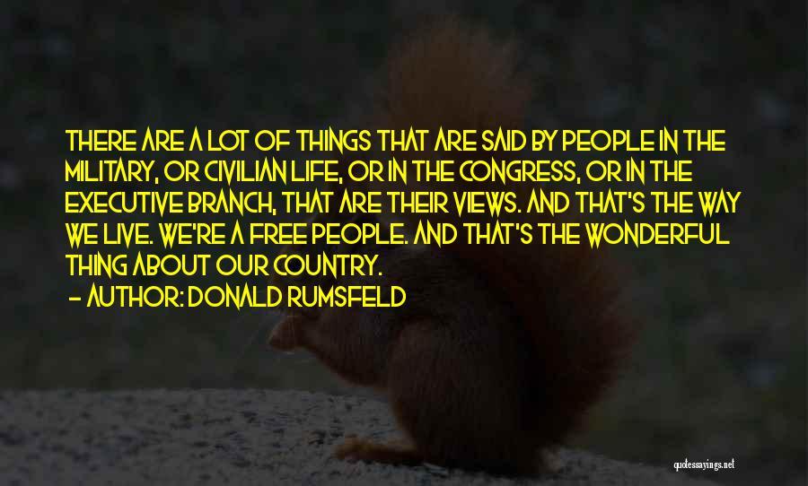 Rikki Chadwick And Zane Bennett Quotes By Donald Rumsfeld