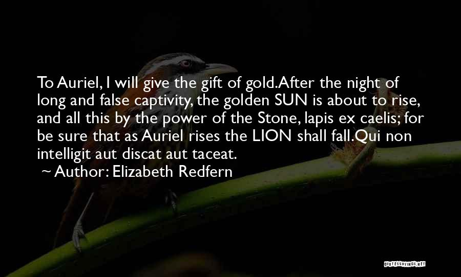 Rise And Fall Of Power Quotes By Elizabeth Redfern