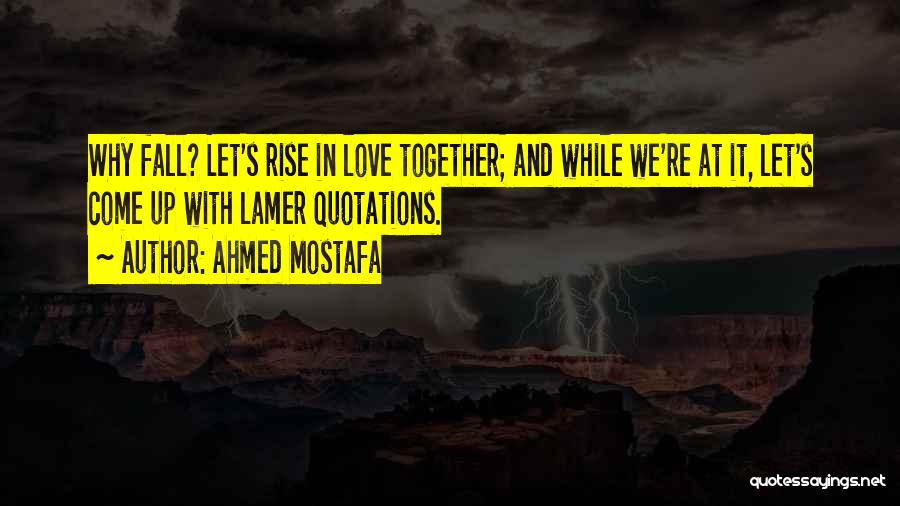 Rise Up Together Quotes By Ahmed Mostafa