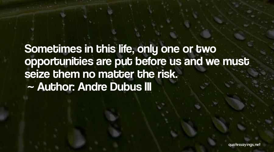 Risk And Opportunity Quotes By Andre Dubus III