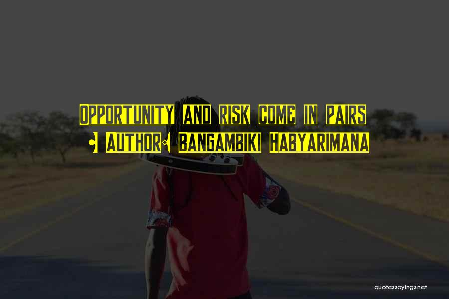 Risk And Opportunity Quotes By Bangambiki Habyarimana