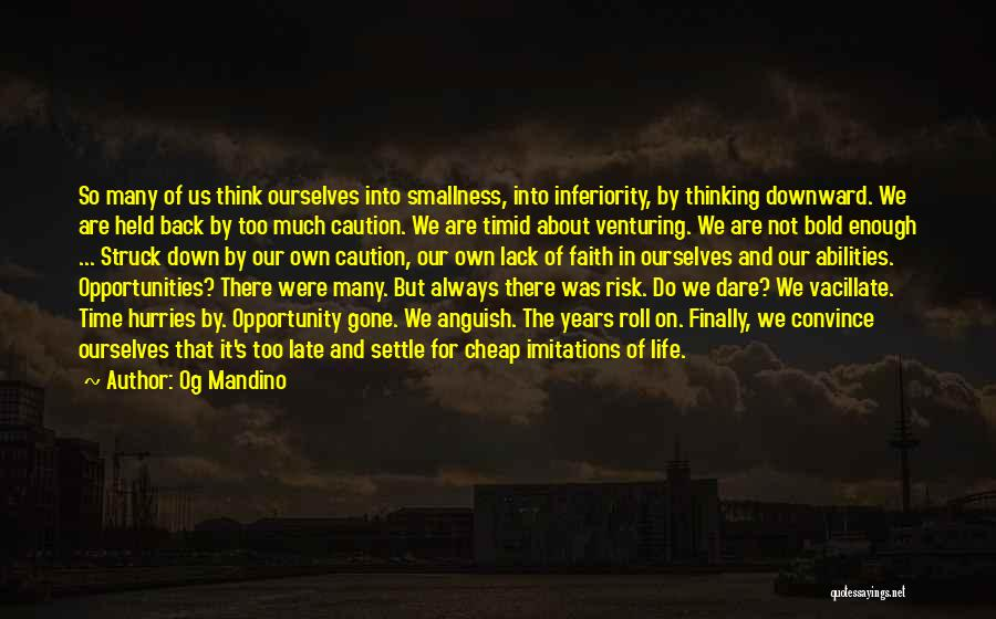 Risk And Opportunity Quotes By Og Mandino