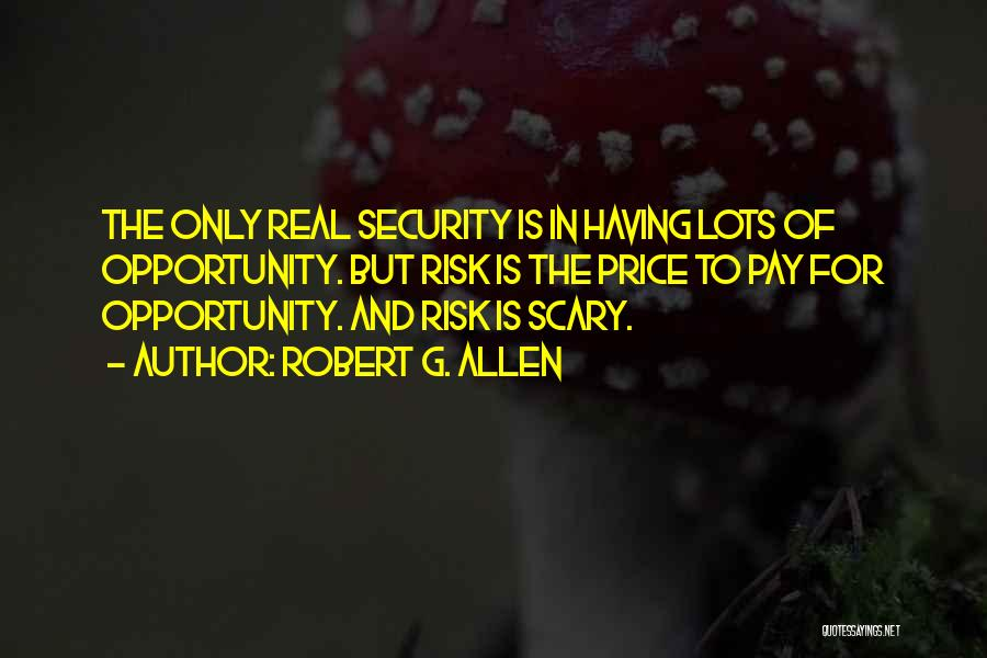 Risk And Opportunity Quotes By Robert G. Allen