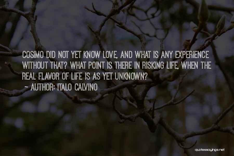 Risking For Love Quotes By Italo Calvino