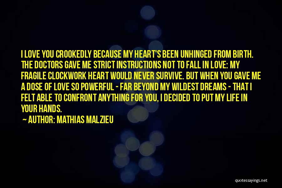 Risking For Love Quotes By Mathias Malzieu