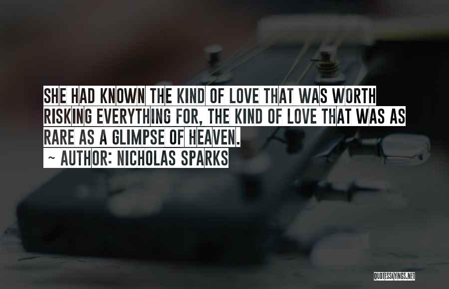 Risking For Love Quotes By Nicholas Sparks