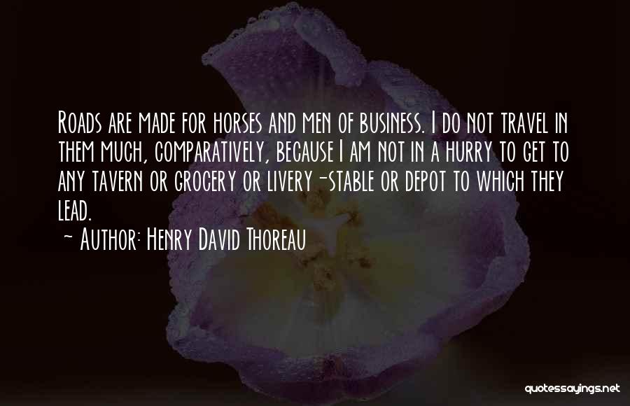 Roads And Travel Quotes By Henry David Thoreau