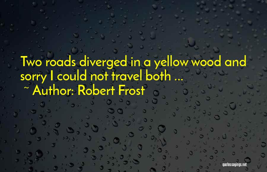 Roads And Travel Quotes By Robert Frost