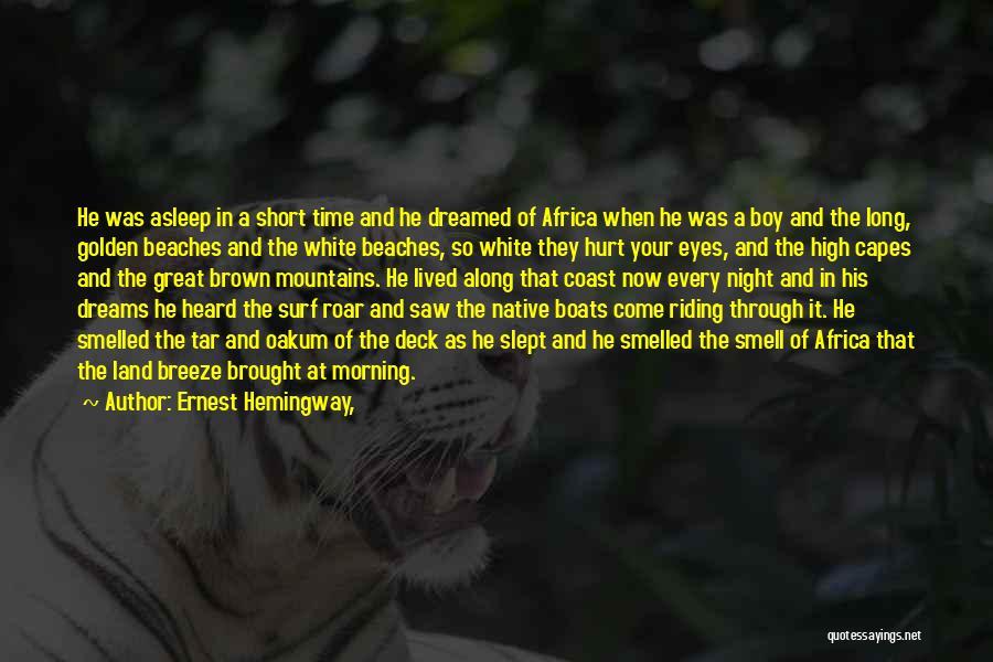 Roar Short Quotes By Ernest Hemingway,