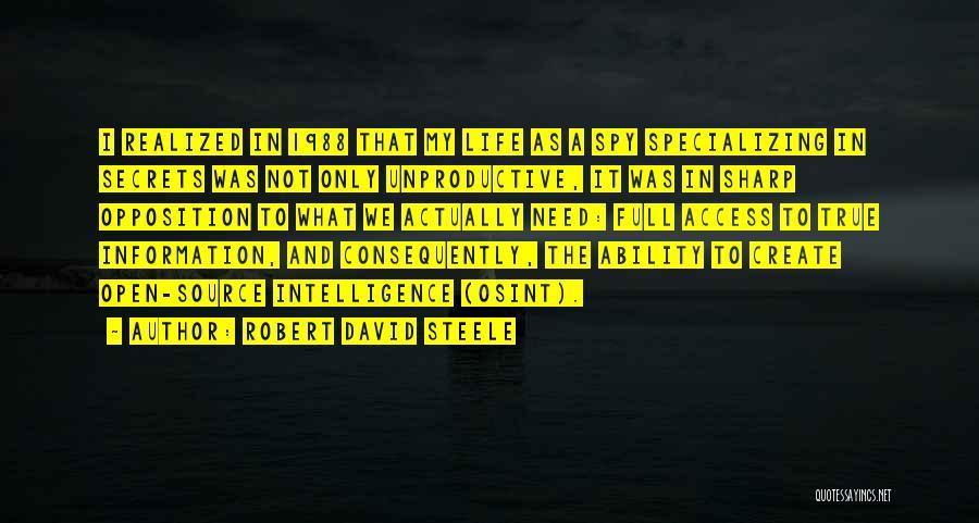 Robert David Steele Quotes 763322