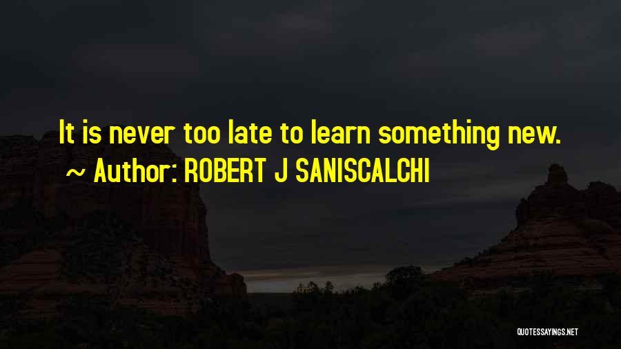 ROBERT J SANISCALCHI Quotes 1728392
