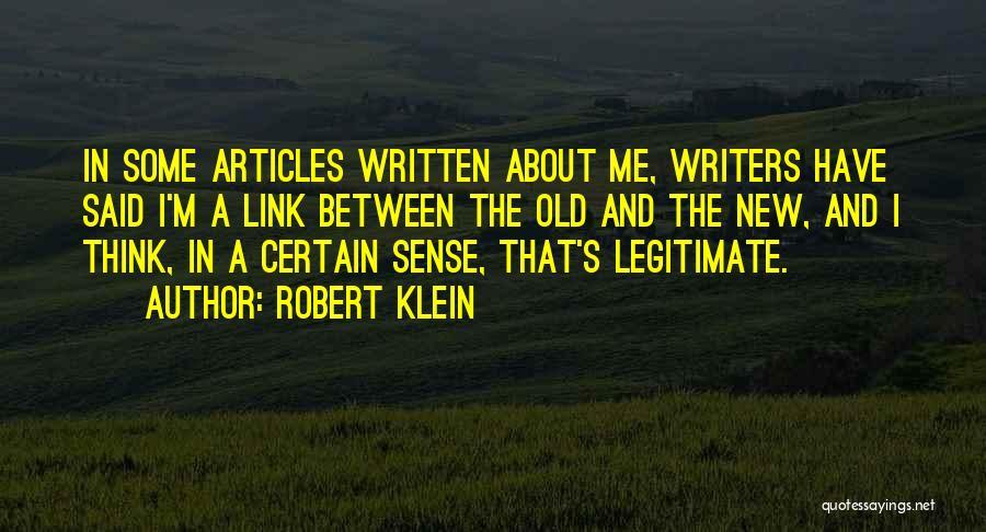 Robert Klein Quotes 711280