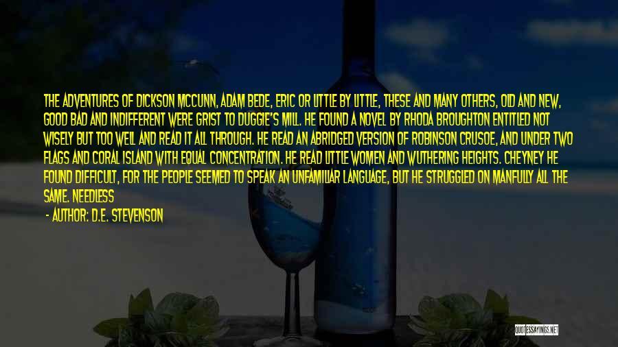 Robinson Crusoe Quotes By D.E. Stevenson