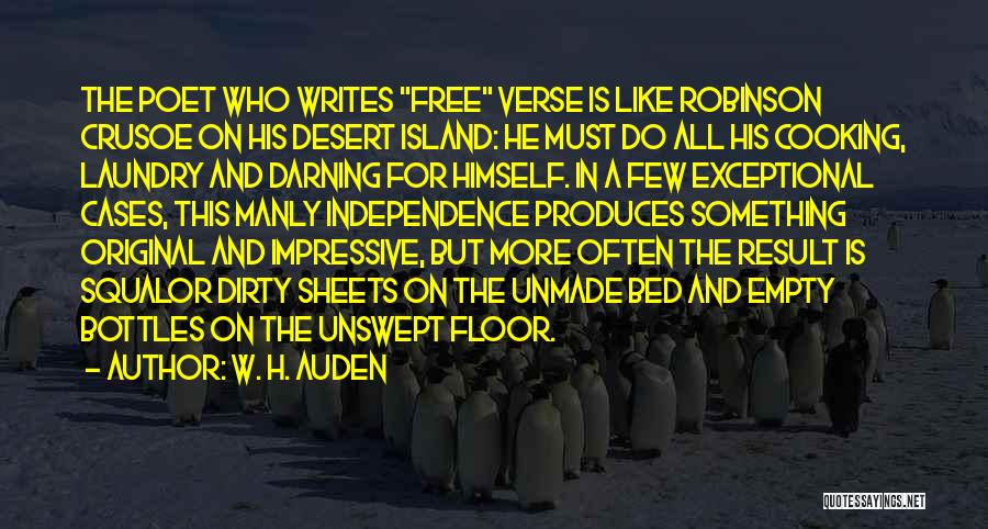 Robinson Crusoe Quotes By W. H. Auden