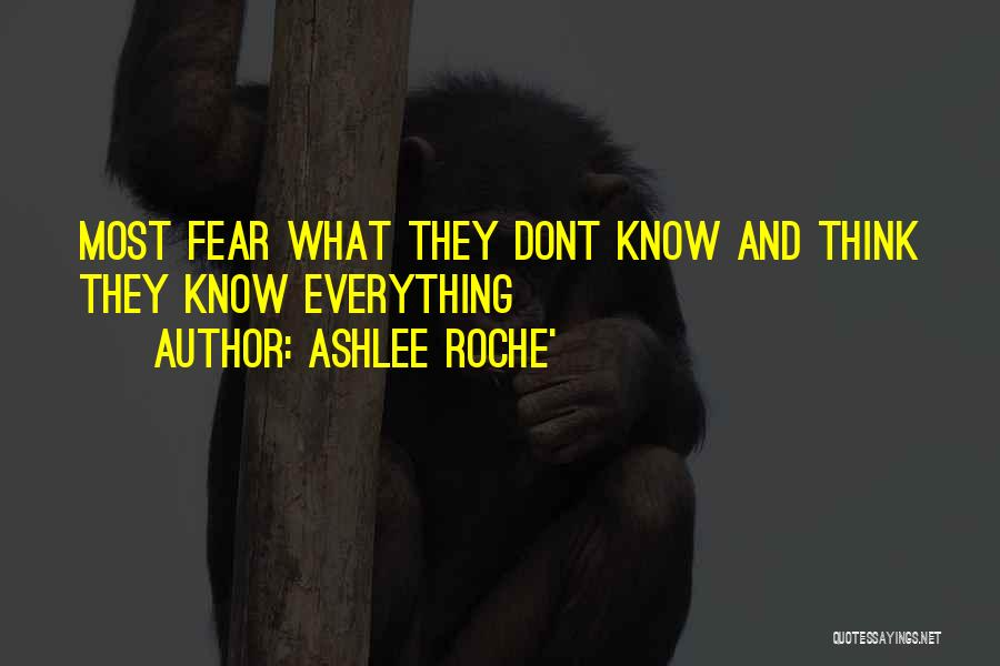 Roche Quotes By Ashlee Roche'