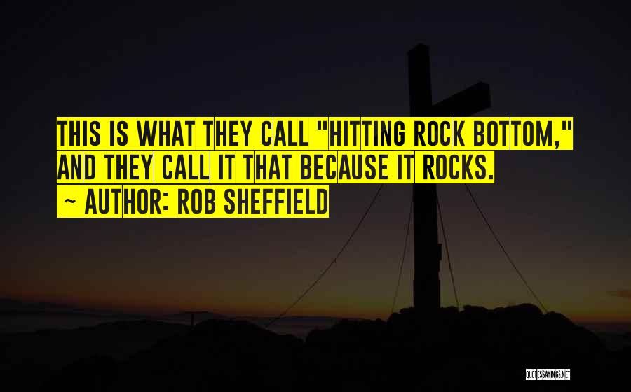Rock Bottom Quotes By Rob Sheffield