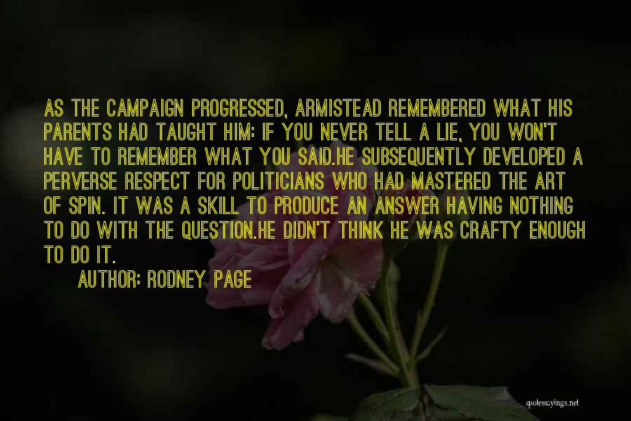 Rodney Page Quotes 981915