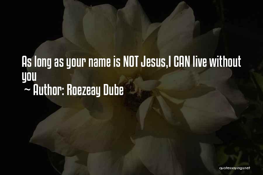 Roezeay Dube Quotes 1866490