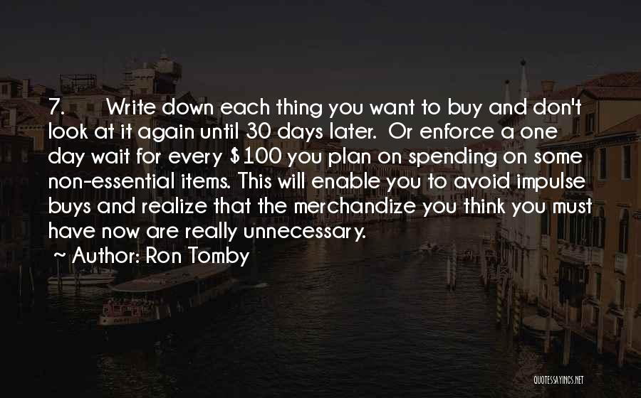 Ron Tomby Quotes 1765536