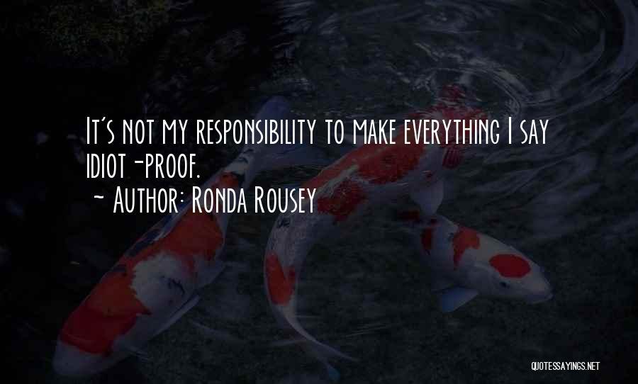 Ronda Rousey Quotes 817637