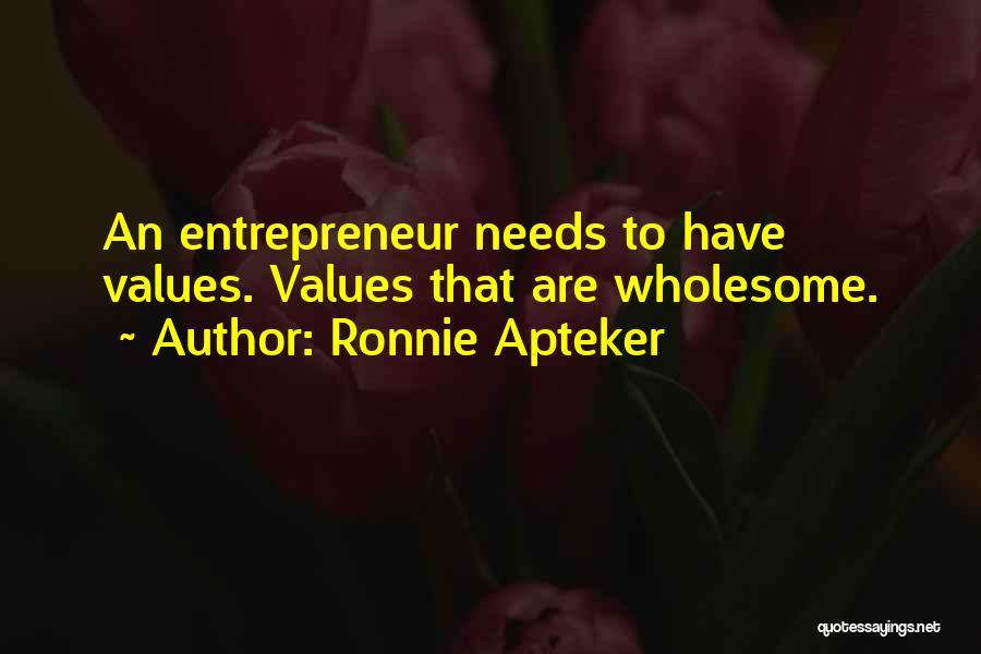 Ronnie Apteker Quotes 1400618