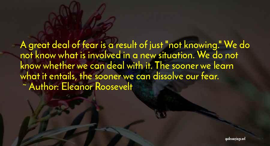 Roosevelt's New Deal Quotes By Eleanor Roosevelt