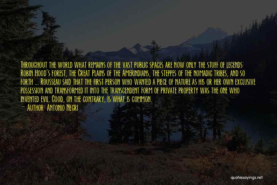 Rousseau Property Quotes By Antonio Negri