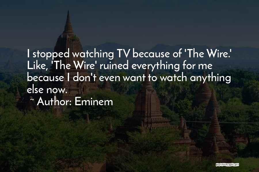 Ruined Everything Quotes By Eminem