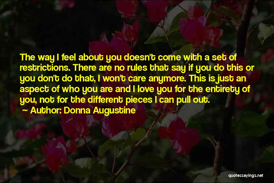 Rules Of Love Quotes By Donna Augustine