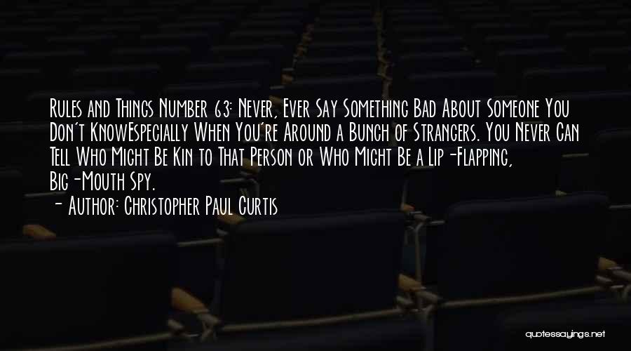 Rules Of Quotes By Christopher Paul Curtis