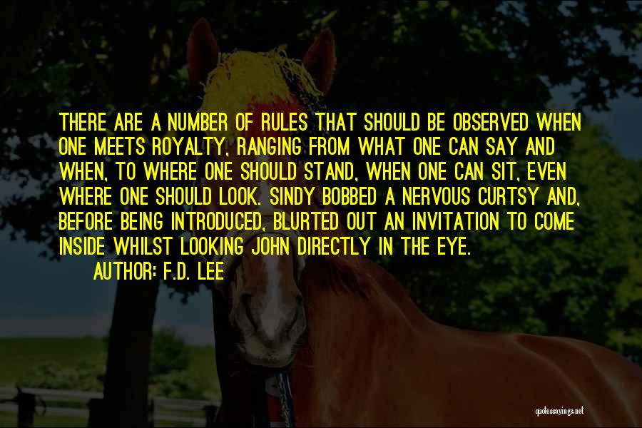 Rules Of Quotes By F.D. Lee