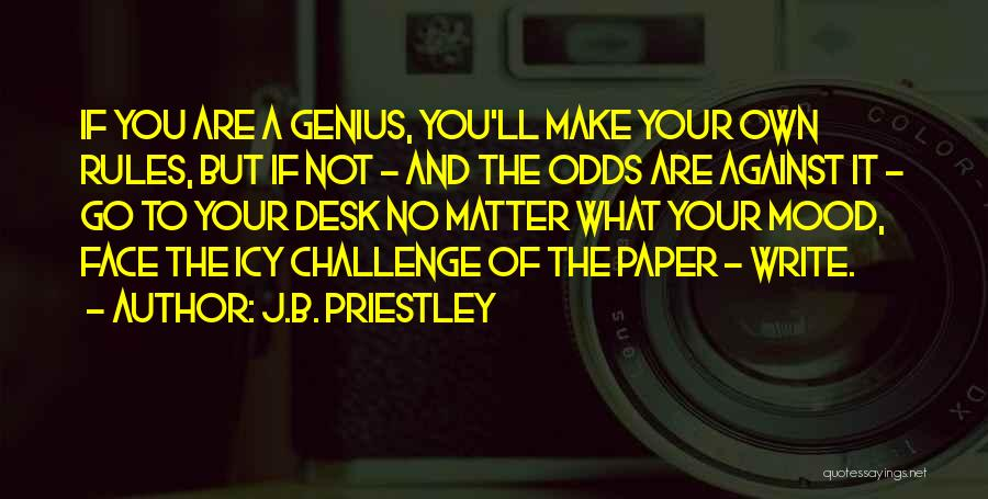 Rules Of Quotes By J.B. Priestley