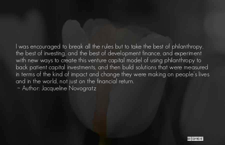 Rules Of Quotes By Jacqueline Novogratz