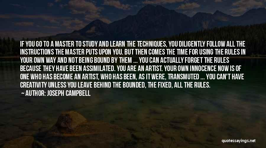 Rules Of Quotes By Joseph Campbell