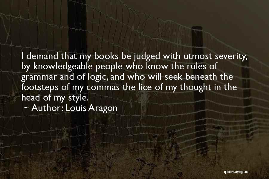 Rules Of Quotes By Louis Aragon