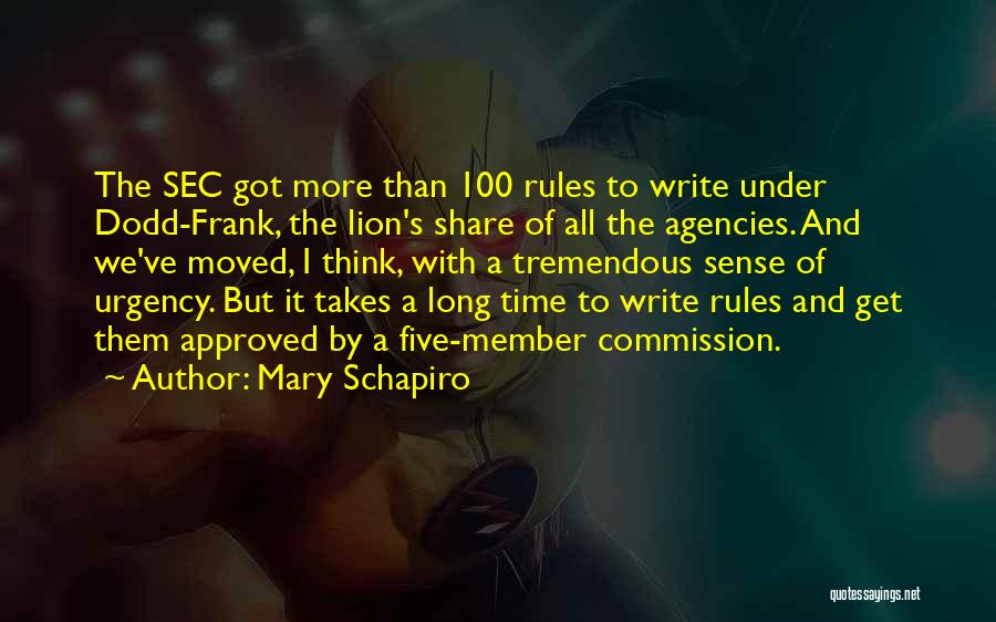 Rules Of Quotes By Mary Schapiro
