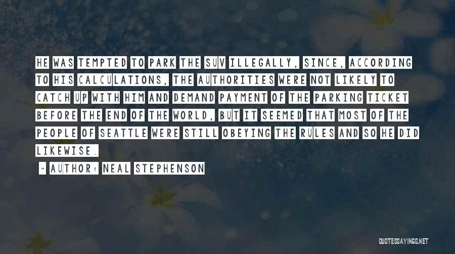 Rules Of Quotes By Neal Stephenson