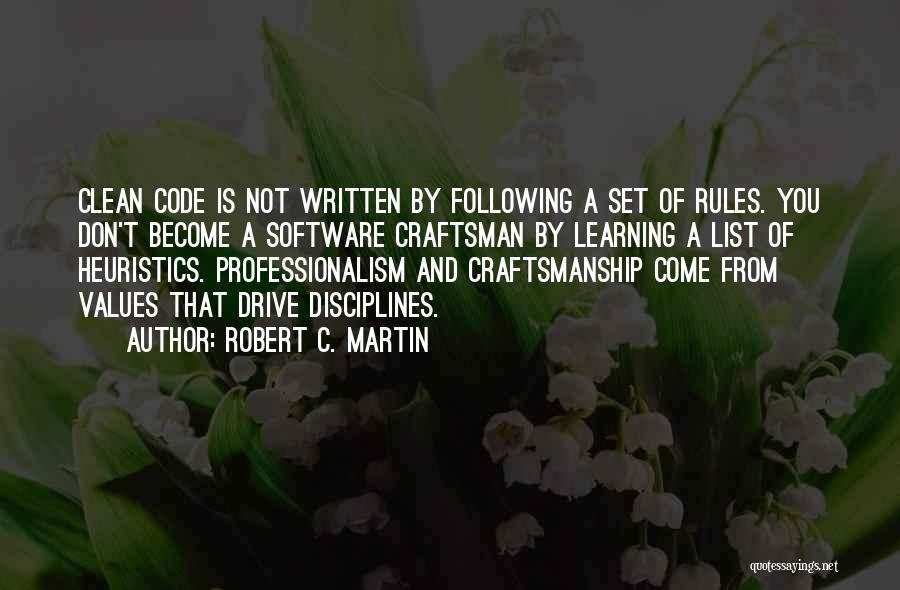 Rules Of Quotes By Robert C. Martin