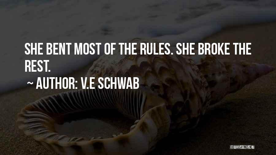 Rules Of Quotes By V.E Schwab