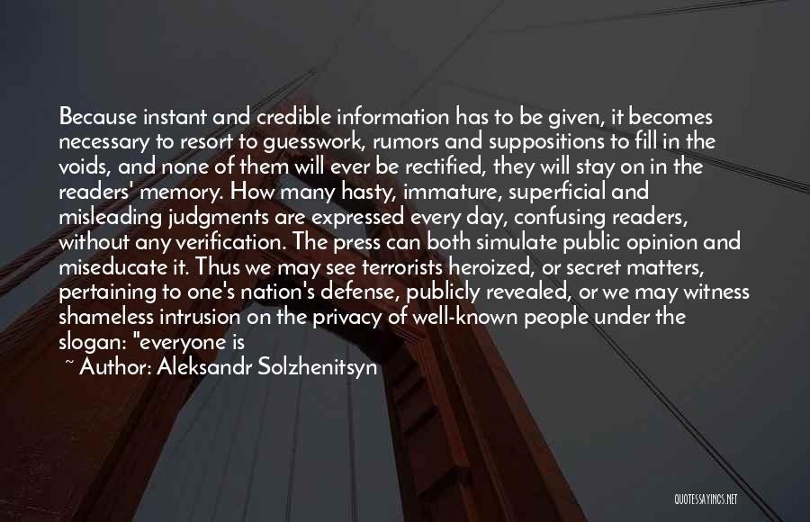 Rumors Quotes By Aleksandr Solzhenitsyn