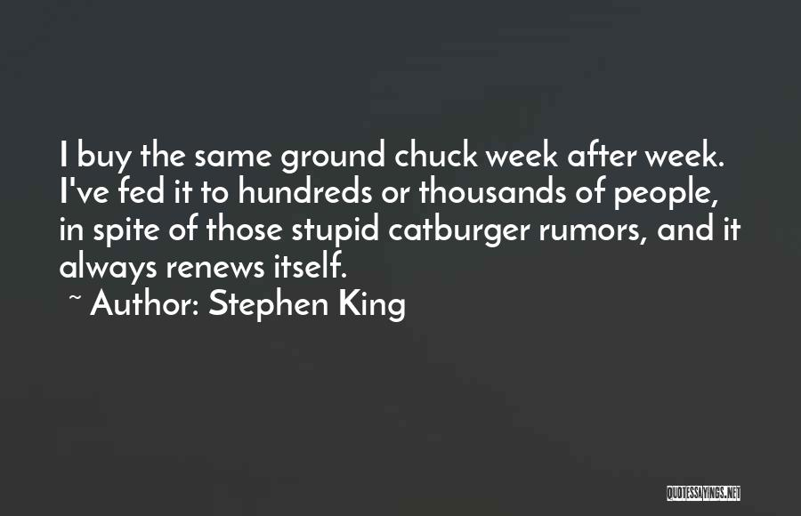 Rumors Quotes By Stephen King