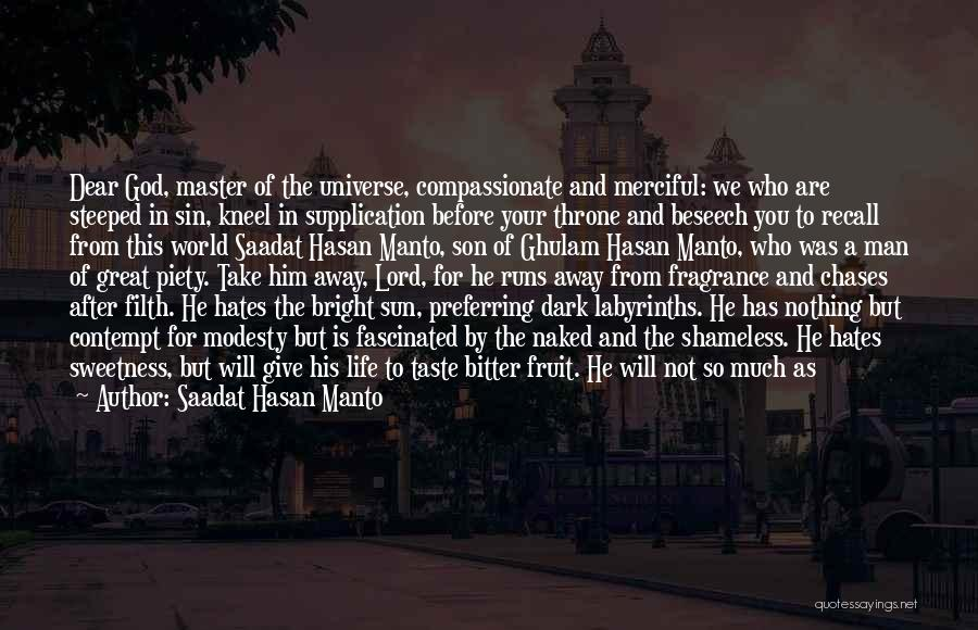 Running Away From Life Quotes By Saadat Hasan Manto