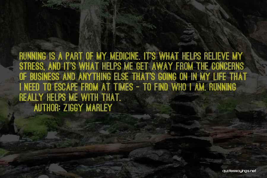 Running Away From Life Quotes By Ziggy Marley