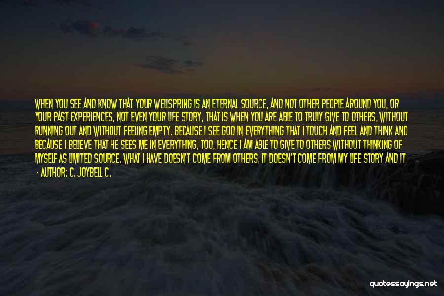 Running On Empty Quotes By C. JoyBell C.