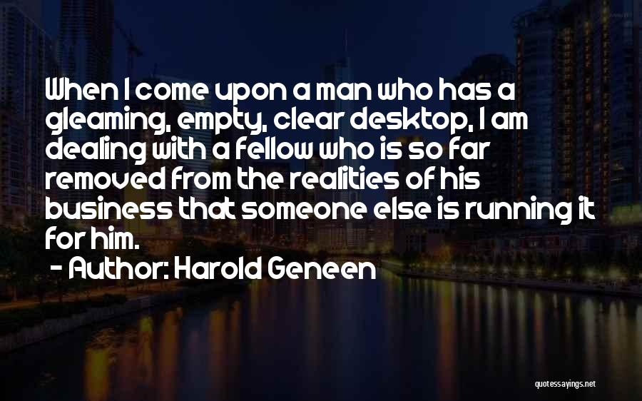 Running On Empty Quotes By Harold Geneen