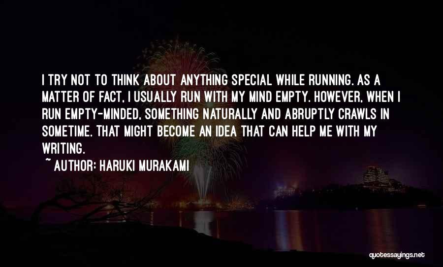 Running On Empty Quotes By Haruki Murakami