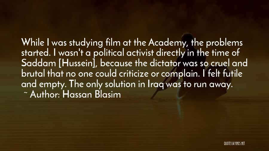 Running On Empty Quotes By Hassan Blasim